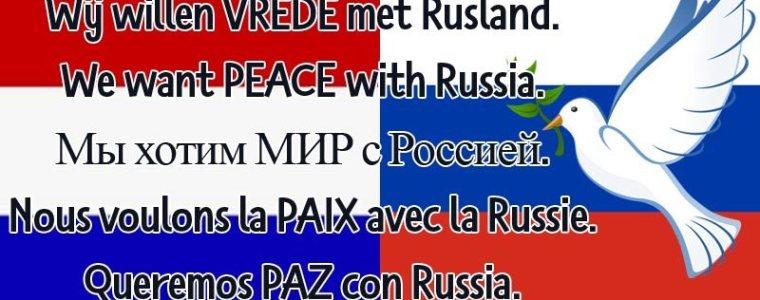 Spontaan protest: wij willen #vrede met Rusland –