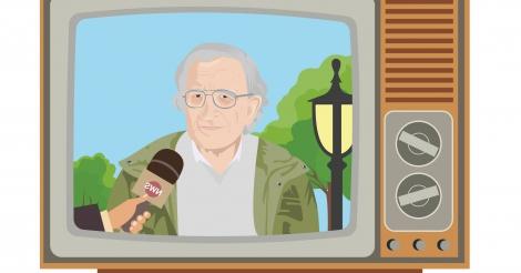 """""""Op stap met Chomsky"""" door het Vlaamse medialandschap"""