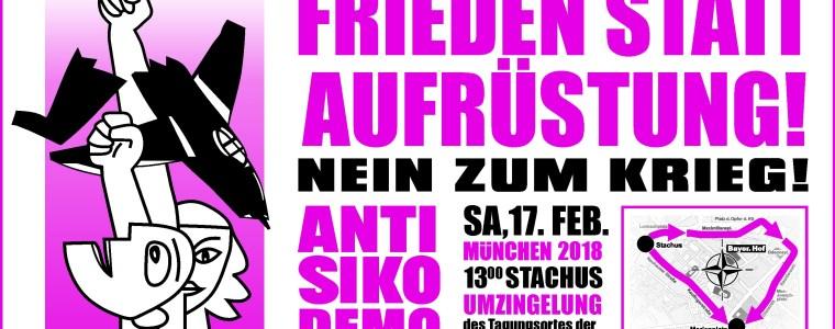 Am 17. Februar startet die große Demonstration gegen die NATO-Sicherheitskonferenz in München | Von AntiSiko