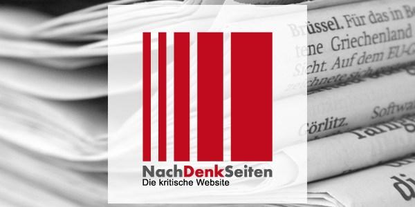 Wir werden von Lügnern und Kriminellen gesteuert und das Bürgertum juckt das mehrheitlich nicht. Genauso wenig wie damals die Machtergreifung der Nazis und ihre Kriegsvorbereitung. – www.NachDenkSeiten.de