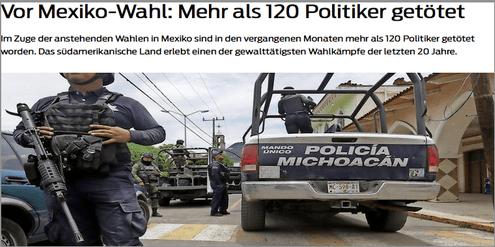Wahlen in Mexiko: Totaler Drogenkrieg ja oder nein