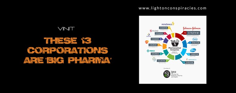 """These 13 Corporations Are """"Big Pharma"""": Their Crimes, History and Products 