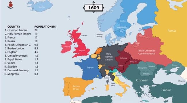 Animated Map: Visualizing 2,400 Years Of European History