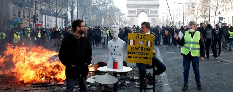 macron-lectures-uk-on-democracy-while-france-burns-every-saturday-george-galloway