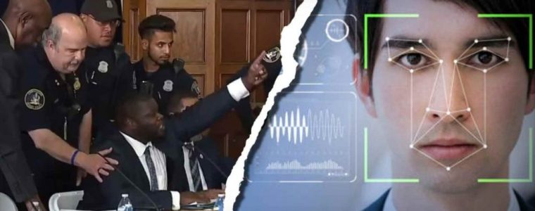 watch-as-police-commissioner-is-arrested-for-questioning-city's-use-of-facial-recognition