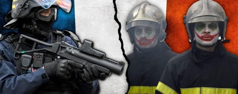 firefighters-battle-police-in-the-streets-of-paris-–-#newworldnextweek
