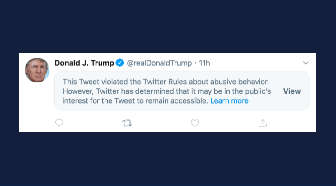 """twitter-censors-trump-for-""""threat-of-harm"""",-has-no-problem-with-threats-to-bomb-foreigners"""