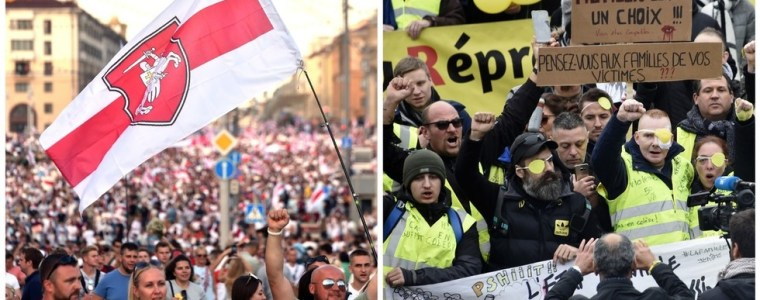 macron-wants-eu-to-back-belarusians-standing-up-for-'rights-&-freedom'.-but-what-about-the-yellow-vests-at-home?-twitter-users-ask
