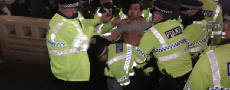 covid-19-lockdown-unrest:-liverpool-protesters-clash-with-police-and-manchester-students-tear-down-'prison-like'-fencing-(videos)