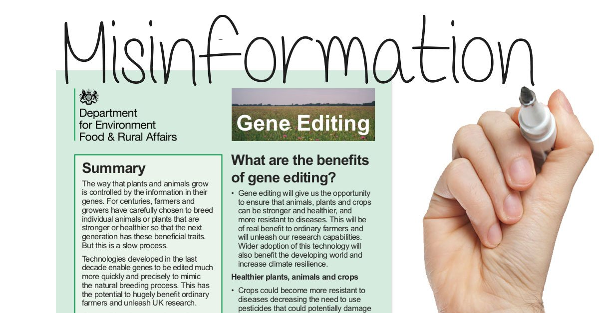 """uk-government-misinformation-on-gene-editing.-johnson-government's-plan-to-""""deregulate-gene-editing""""-–-global-research"""