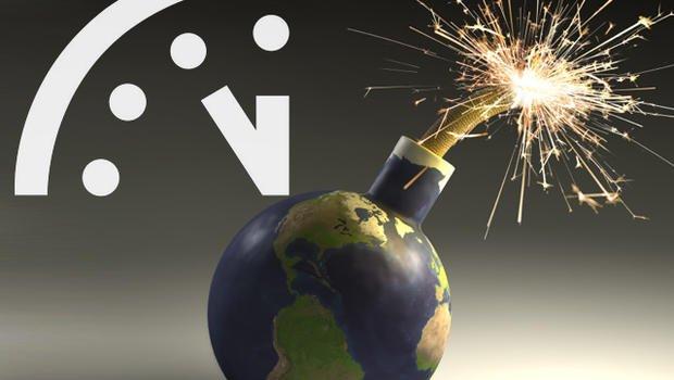 """klimaatverandering-versus-de-gevaren-van-een-nucleaire-oorlog.-""""drie-minuten-voor-middernacht"""""""