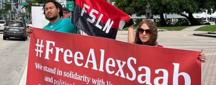 miami-verdedigers-van-twee-keer-vs-ontvoerde-venezolaanse-ambassadeur,-alex-saab,-verzamelen-voor-zijn-vrijlating