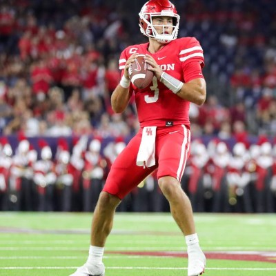 Houston Cougars quarterback Clayton Tune finished with 174 passing yards, two touchdowns and four interceptions in Saturday's loss to Texas Tech. (Courtesy Mario Puente)