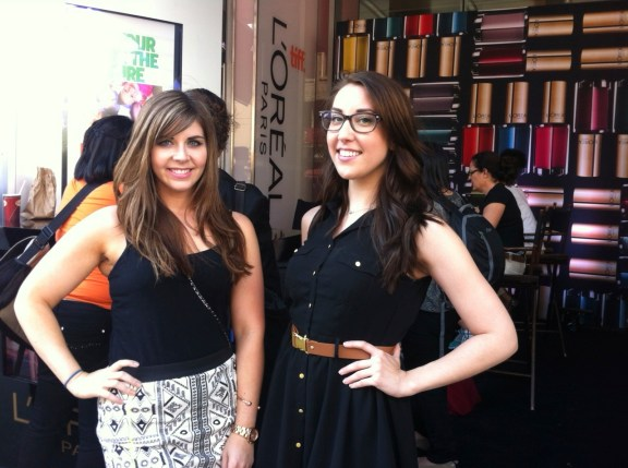 With Jessica from Beautezine.  We ran into her all three days we were in Toronto, she's so nice!