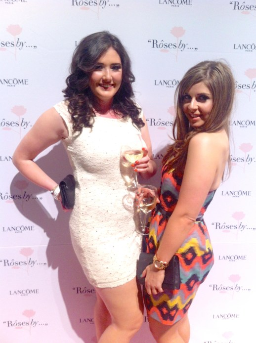 Jess and I on the pink carpet at the Roses By... VIP reception.