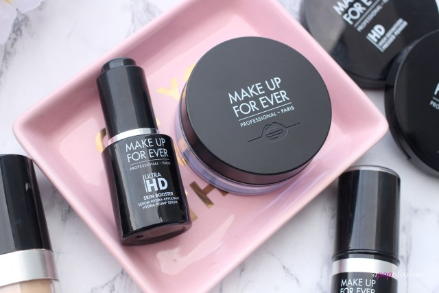 Make Up For Ever Ultra HD Microfinishing Loose Powder and Serum