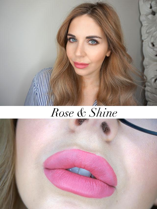 Rimmel London Stay Matte Liquid Lip Colour swatch in Rose & Shine