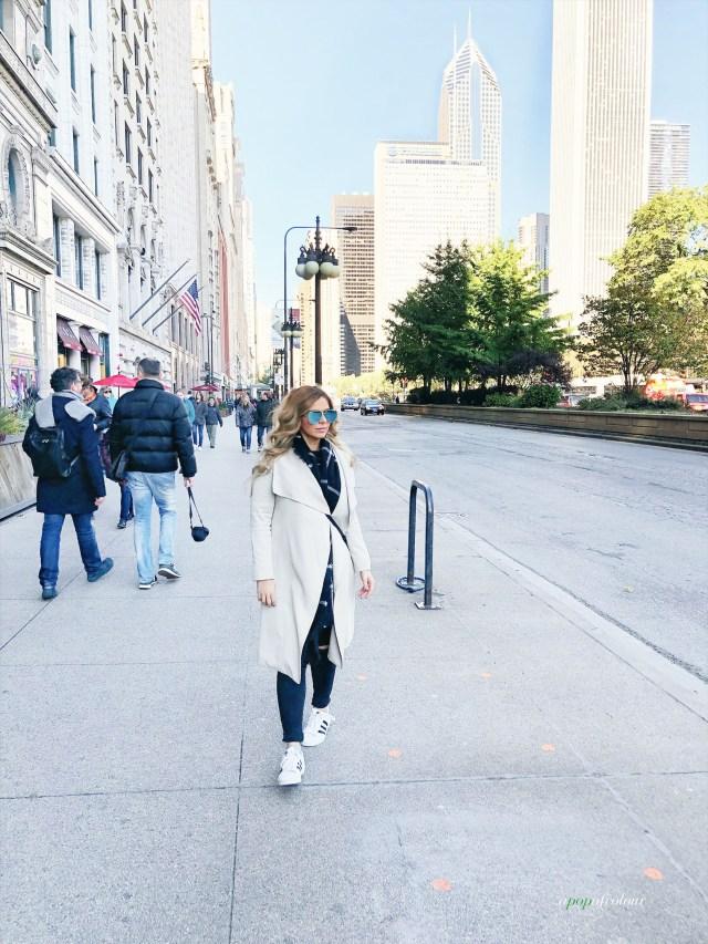 Walking down Michigan Avenue, Chicago
