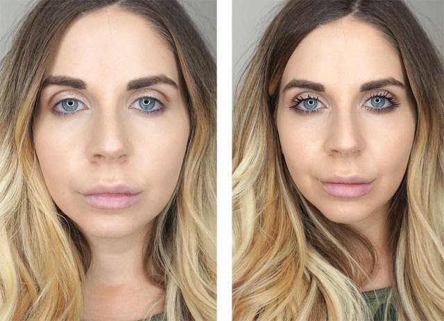 Swatches of Benefit Bad Gal Bang mascara