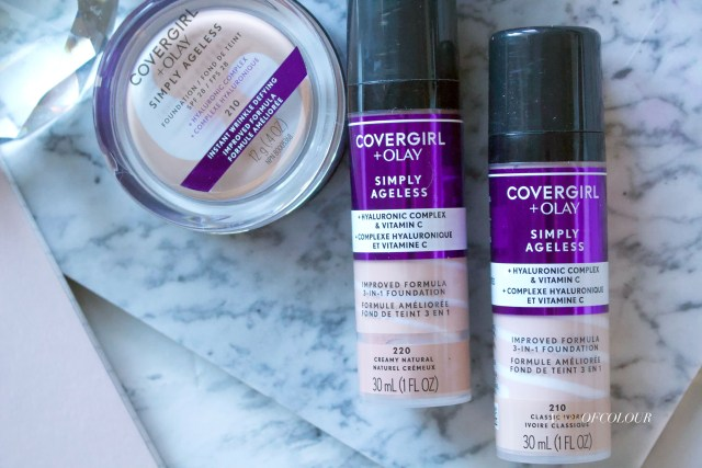 Covergirl + Olay Simply Ageless foundations