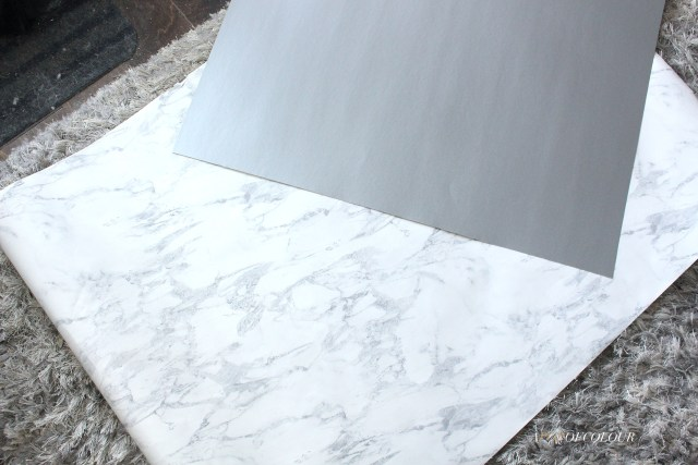 Marble wrapping paper and grey board from Staples Canada