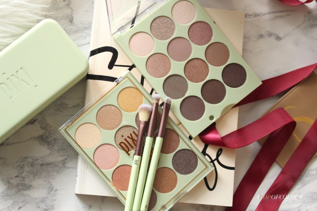 Pixi Beauty Eyeshadow Palettes and brushes