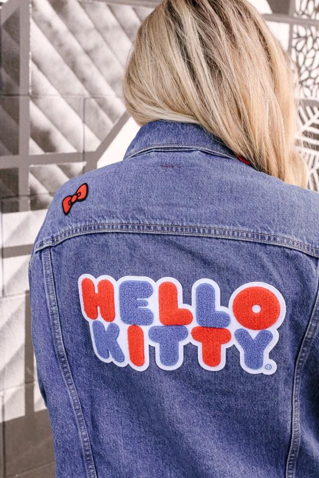 Back of Hello Kitty x Levi's Dad Trucker Jacket