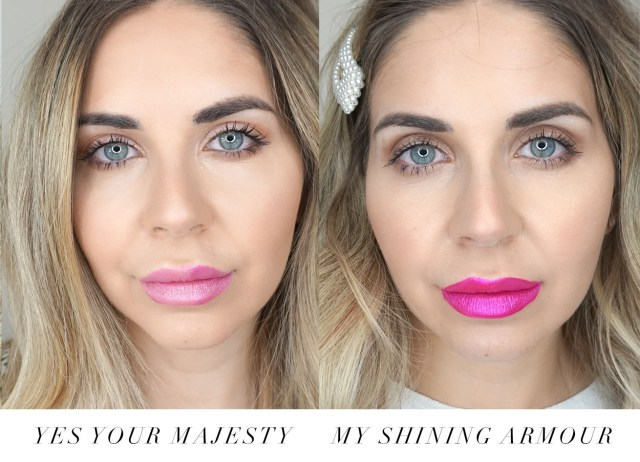 Juicy Couture makeup Metallic Lip Lacquers swatched