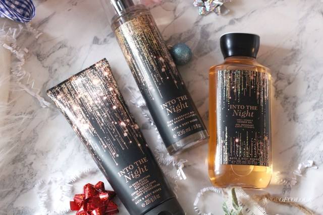 Into the Night body care from Bath and Body Works