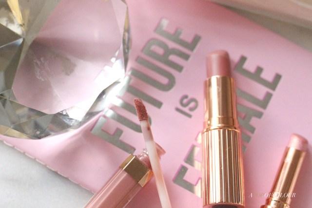 Charlotte Tilbury Pillow Talk Lipsticks, Lipstick Diamonds, and Lip Lustre