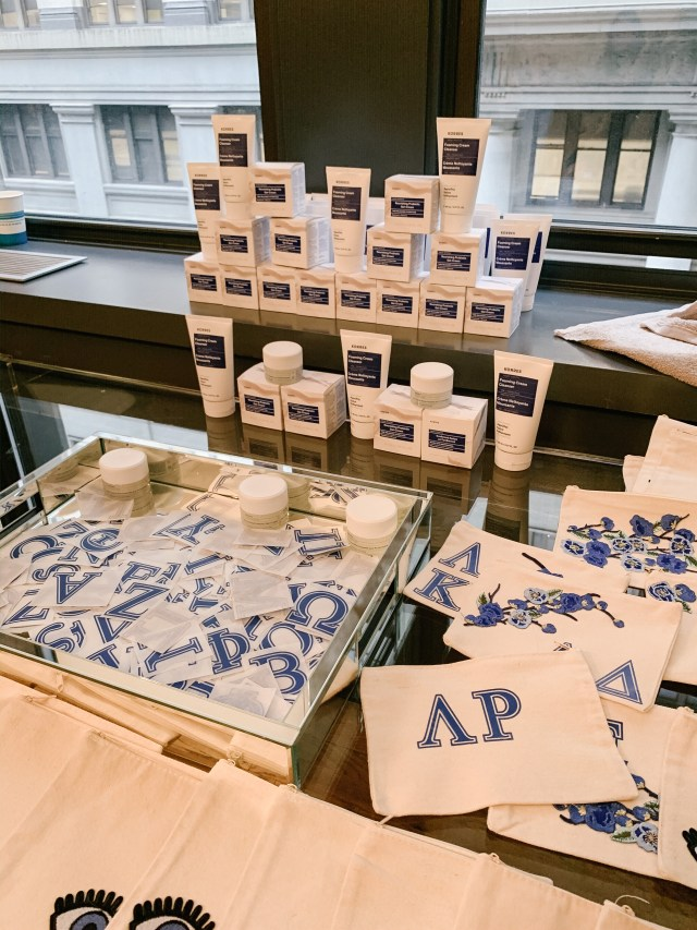 Korres Greek Yogurt products at The Studio at Tractenberg NYFW FW20