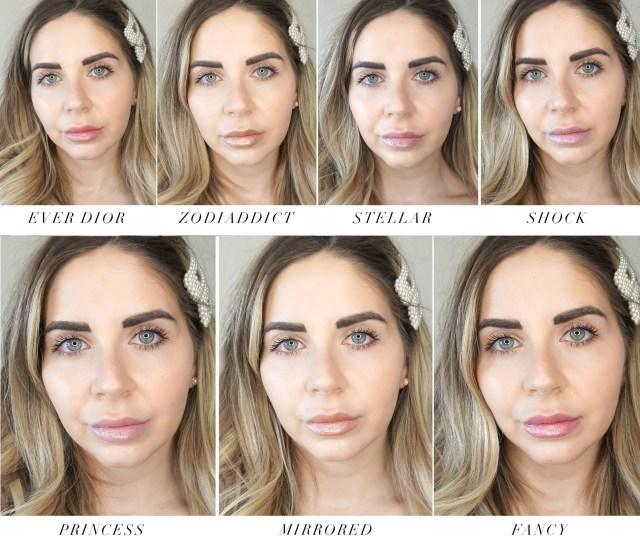 Dior Addict Stellar Lip Gloss swatches