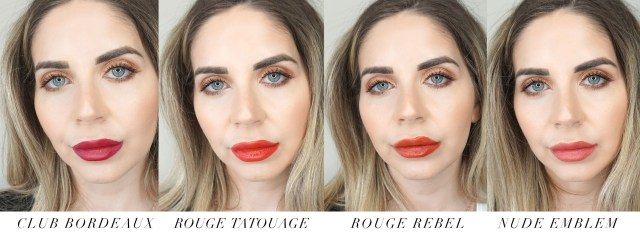 YSL Beauty Tatouage Couture Velvet Cream Liquid Lipstick swatches