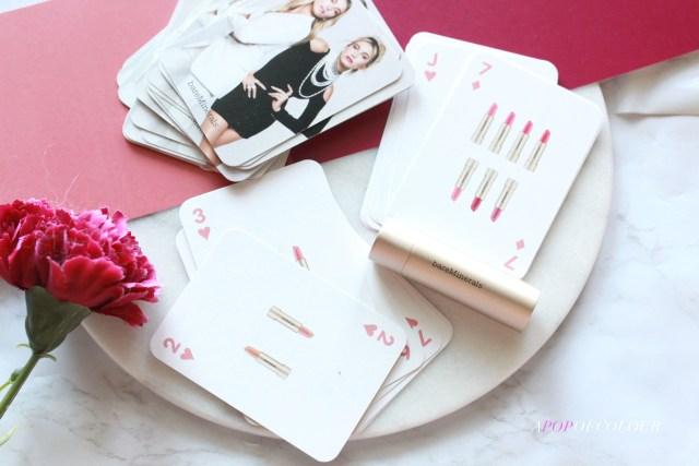 Playing cards from Bare Minerals MINERALIST Hydra-Smoothing Lipstick