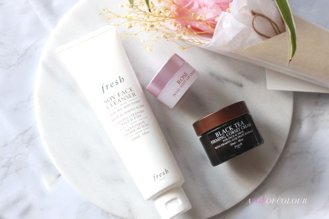 Three products from Fresh beauty