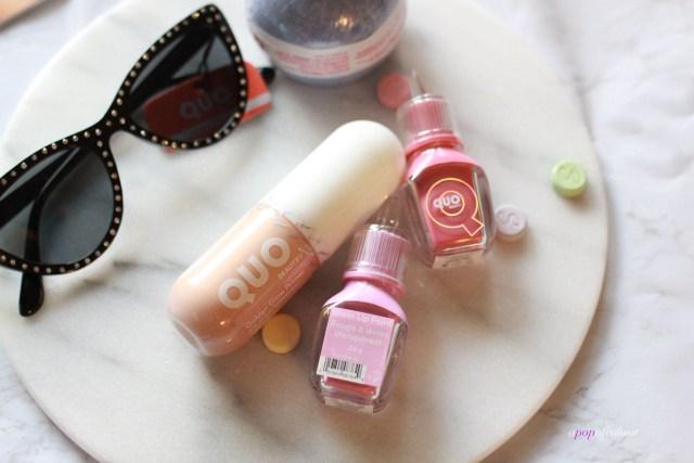 Quo primer and sunglasses