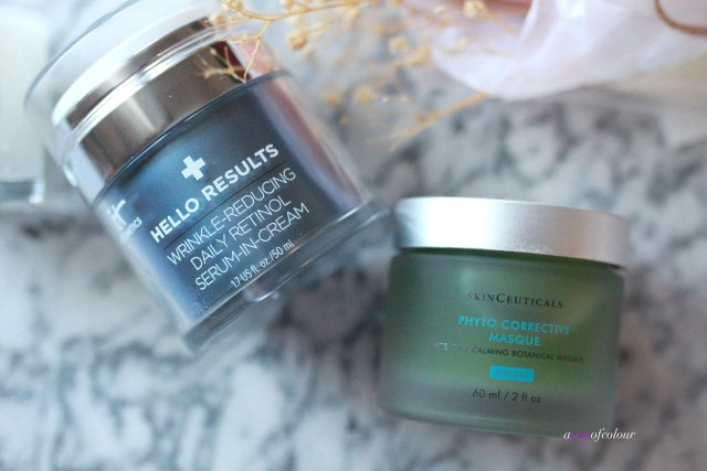 IT Cosmetics Hello Results and Skinceuticals Photo Corrective Masque