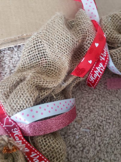 burlap wreath, burlap crafts, burlap wreath tutorial, burlap wreath diy, burlap wreath how to make, burlap wreath valentines day, valentines day wreaths front door, wreath ideas diy, valentines day crafts for adult, mom craft ideas, dollar tree diy, dollar tree valentines day, dollar tree wreath, budget crafts ideas, budget friendly decor