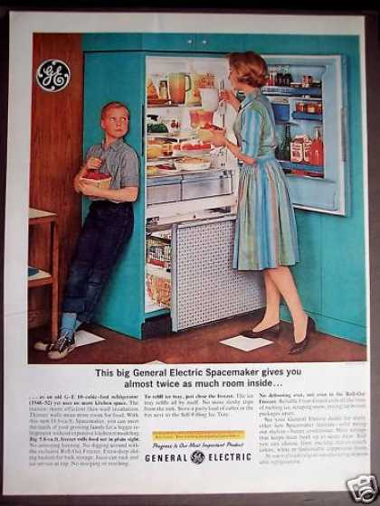 Vintage Advertising   1963 GE Fridge