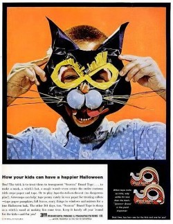 Sweet Vintage Halloween Ad for Scotch Tape (Ad 14 of 31)