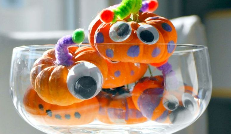 Easy Halloween Craft Idea for Kids: Mini Pumpkin Monsters
