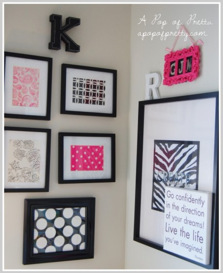 Diy Wall Art I Also Used Scrapbook Paper