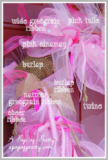 how to make a ribbon wreath for Valentines Day