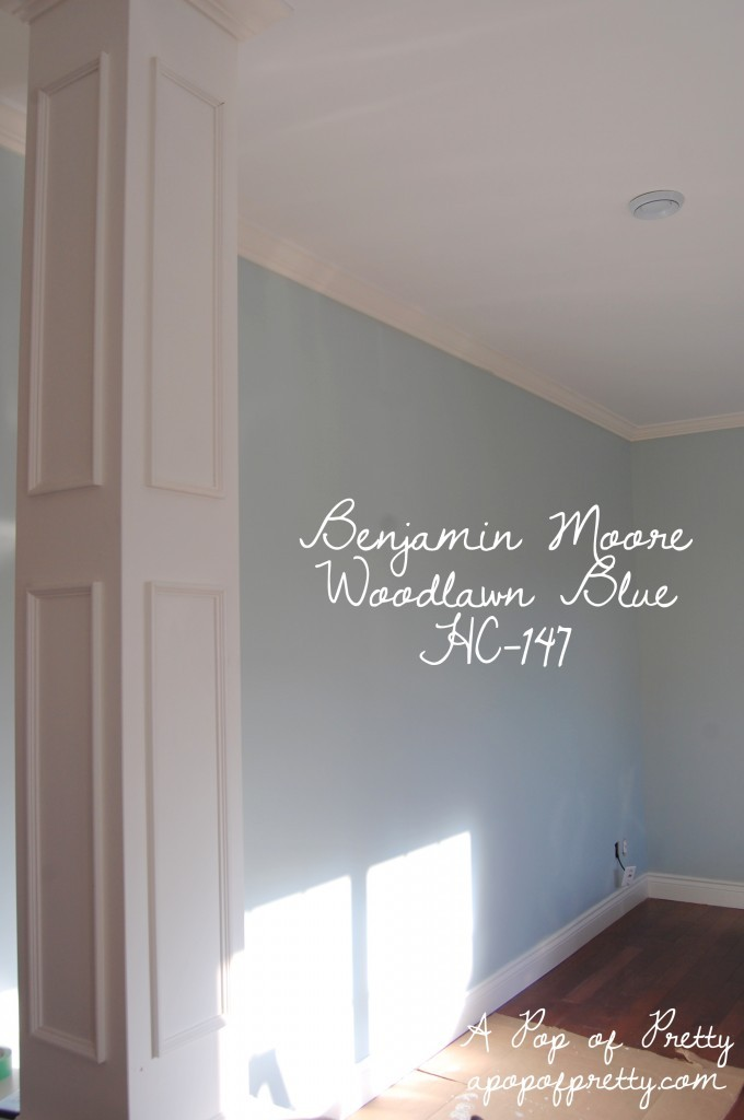 A Pop of Pretty Woodlawn Blue Benjamin Moore