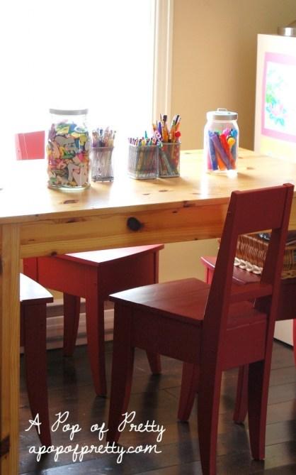 play room craft area