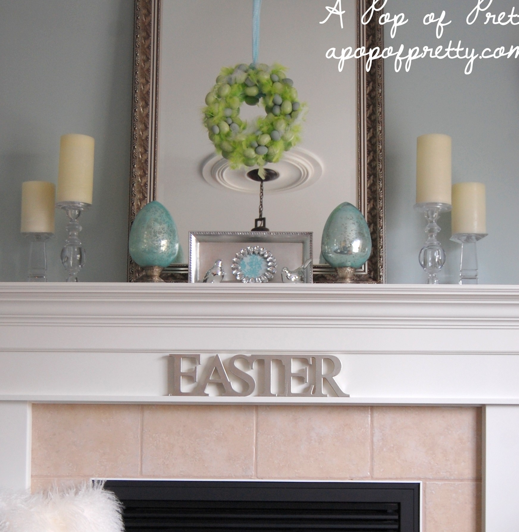 Home Design Ideas Blog: Easter Decorating Ideas: Decorate A Simple Easter Mantel