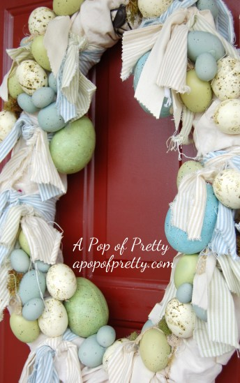 Easter decorating ideas - how to make a wreath for Easter