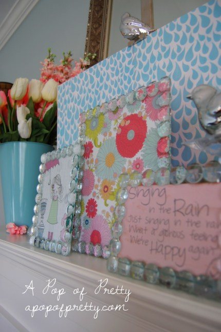 How to decorate an Easter mantel