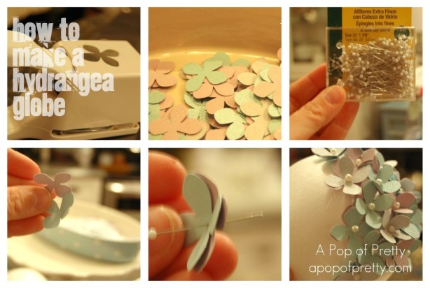 Easter craft - how to make a hydrangea globe
