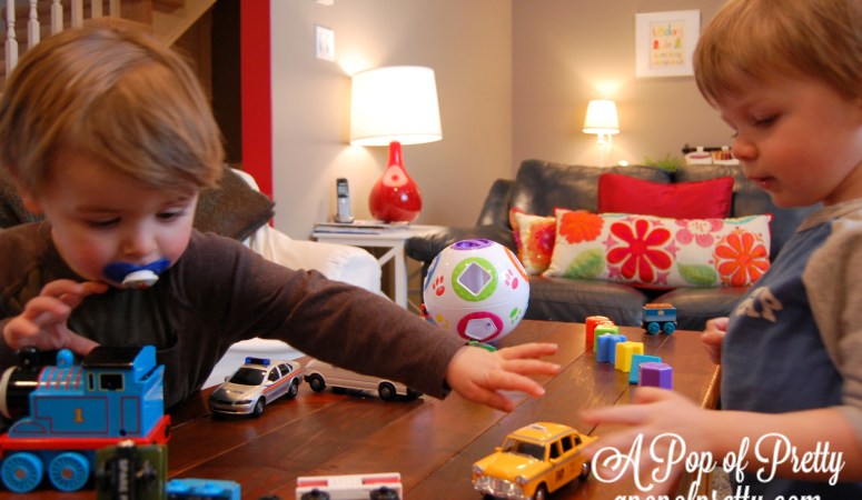 Featured at Apartment Therapy: Our Colorful, Play-Inspired Basement Family Room!